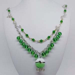 Apple green handmade necklace